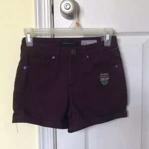 Aeropostale Midi High Waisted Stretchy Shorts